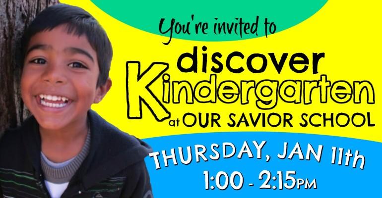 Discover Kindergarten Website Slider