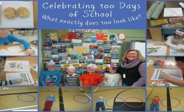 100 days of school template