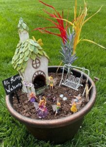spring kids activities series - fairy garden